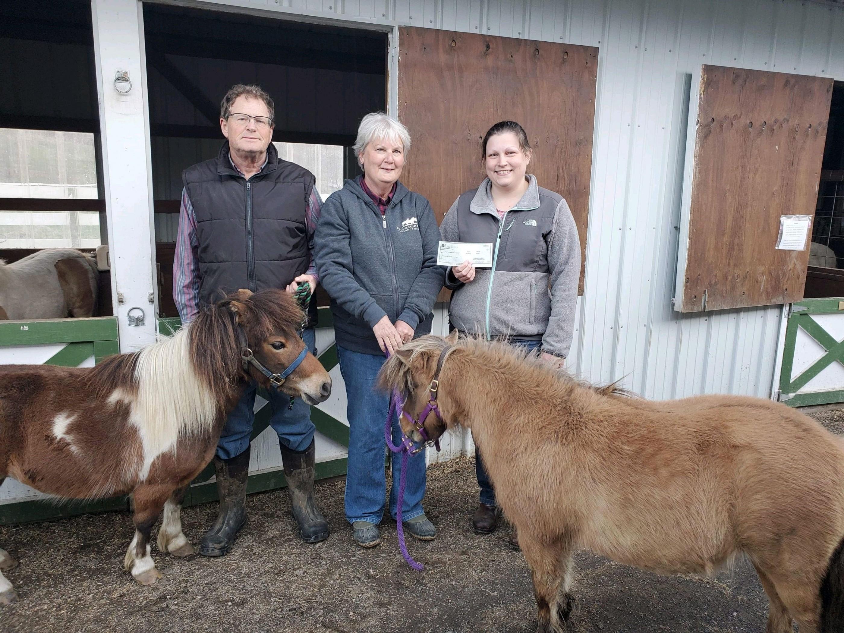 Blue Grass Valley Employees donate to Elegius Mini Equine Sanctuary