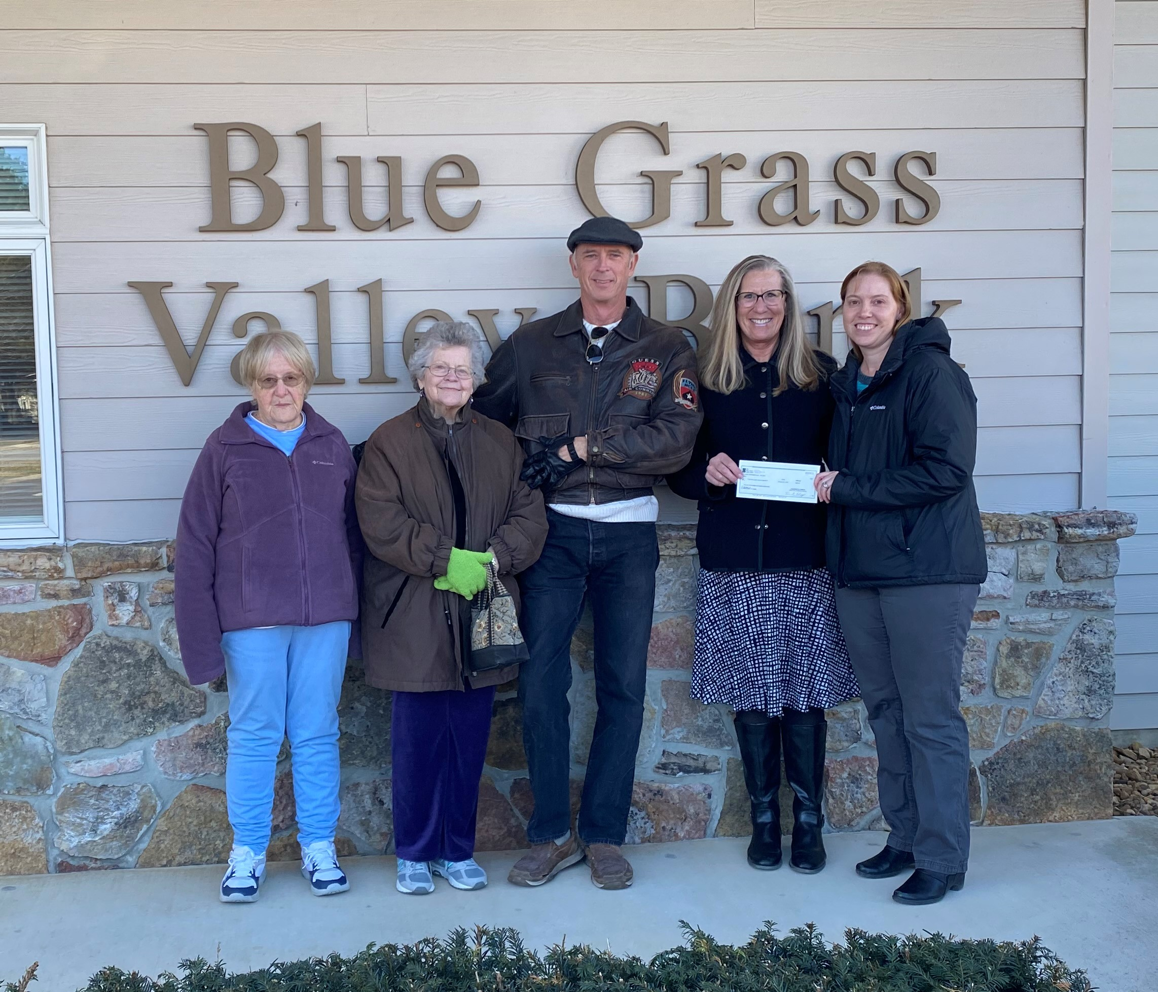 Blue Grass Valley Bank Employees donated to VPAS